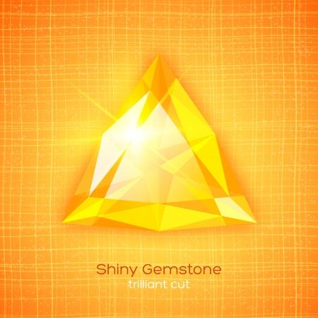 Shiny gemstone on textured background.