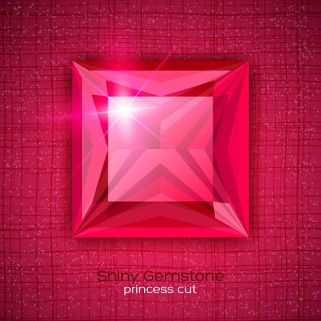 Gemstone princess shaped on textured background.  Vector