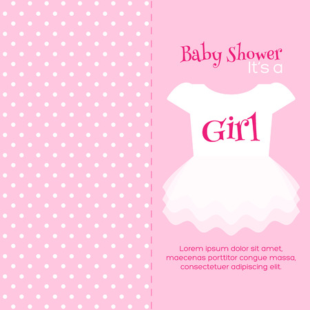 baby girl shower invitation card pink template royalty free
