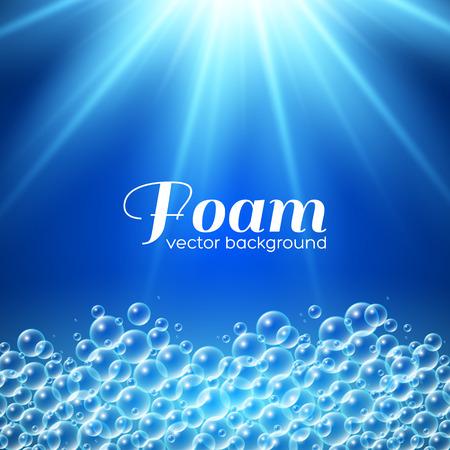 Foam background. Vector illustration for your design Vectores