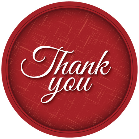 Thank You lettering on textured background. Vector design