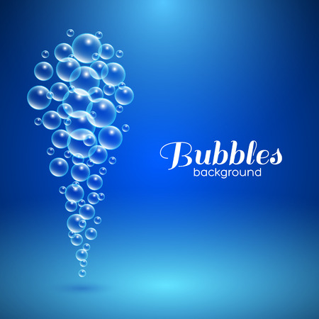 Air bubbles. Vector background for your design