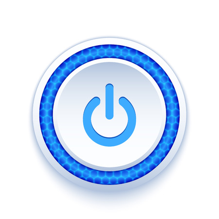 ui design: Power button icon isolated on white background Illustration