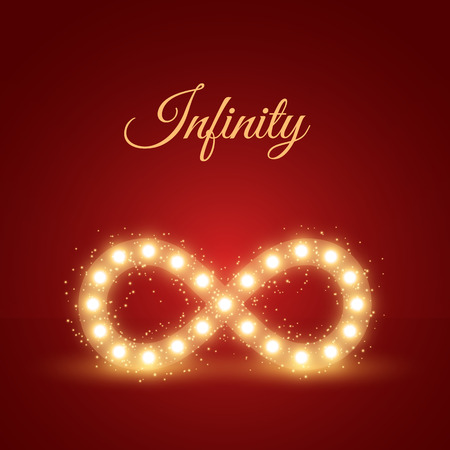 Abstract vector background with glowing infinity symbol