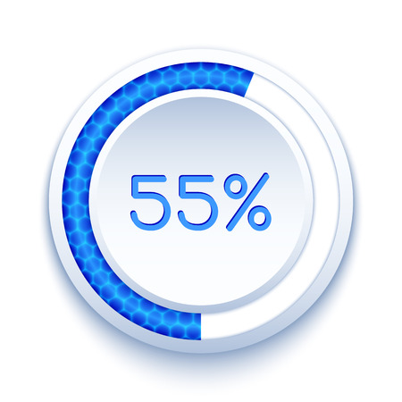 Round progress bar isolated on white. Vector preloader Vector