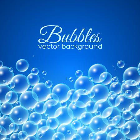 Bubbles achtergrond. Vector illustratie voor uw ontwerp