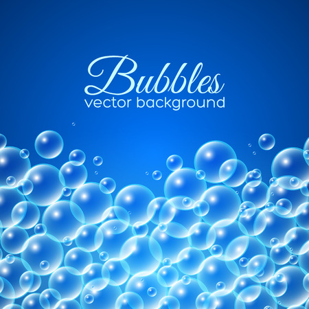 Bubbles background. Vector illustration for your design
