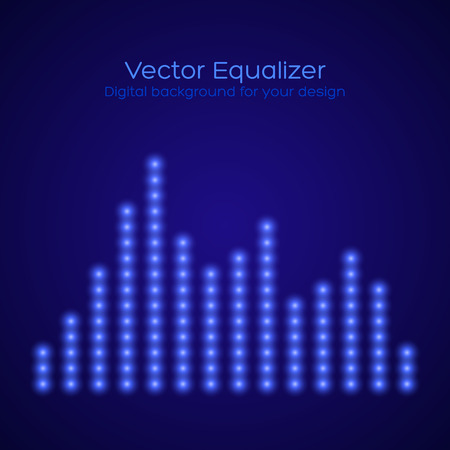 Equalizer on dark blue background. Vector illustration Stock Vector - 26724085