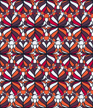 tessellated: Abstract mosaic seamless pattern