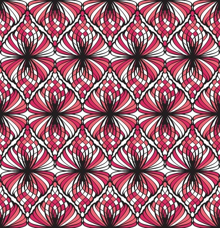 tessellated: Abstract red and black seamless pattern Illustration