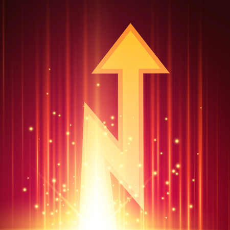 Abstract background with glowing arrow. Vector illustration Illustration