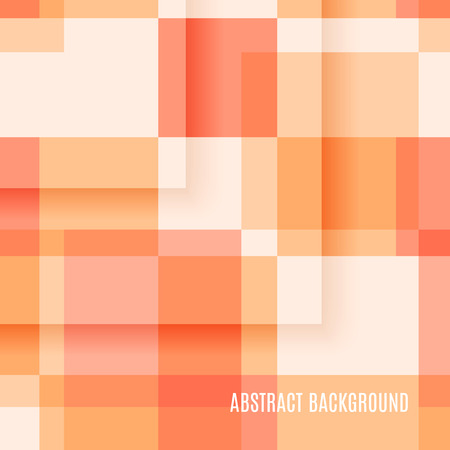 Light orange abstract background of rectangles. Vector illustration
