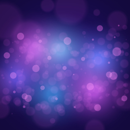 Bokeh lights. Abstract dark vector background for your design 向量圖像