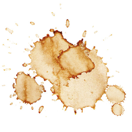Coffee stains isolated on white background. Vector illustration
