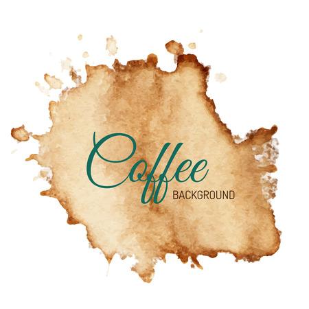 Mancha de café aislados en blanco. Fondo de vector creativo