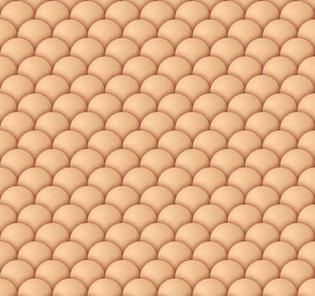 Light beige scale seamless pattern. Vector illustration