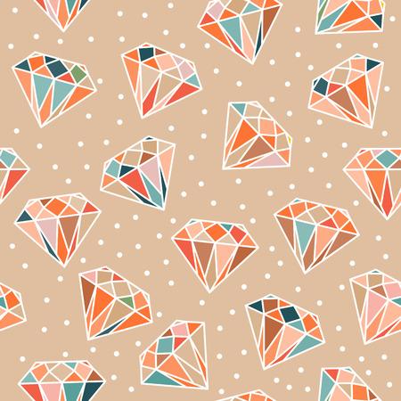 Light seamless pattern with diamonds.