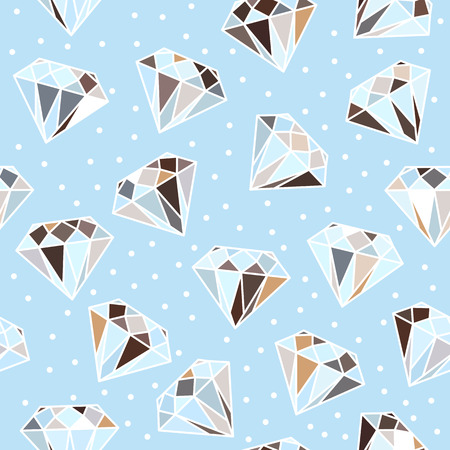 Light blue seamless pattern with diamonds.  Vector