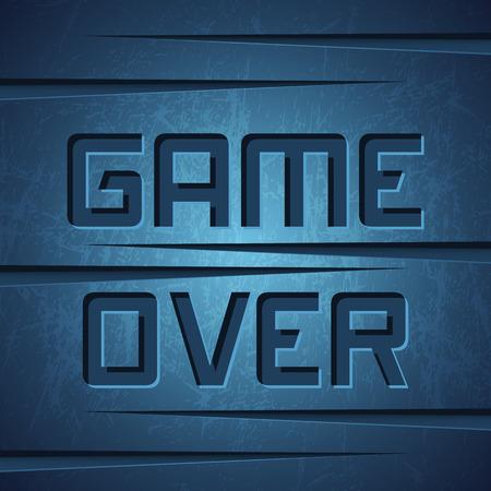 message vector: Vector Mensaje: Juego sobre el oscuro fondo agrietado