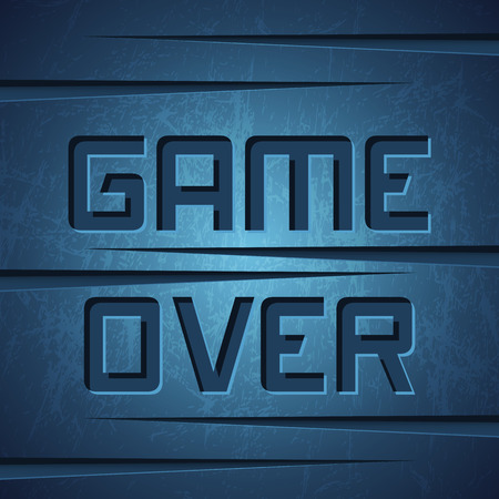 vector message: Vector Message: Game Over on Dark Cracked Background