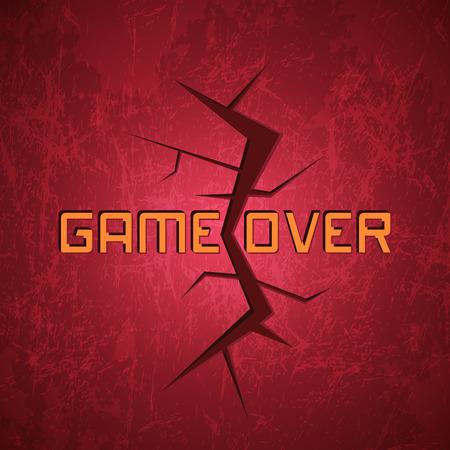 message vector: Mensaje del vector: Juego sobre el fondo rojo Cracked