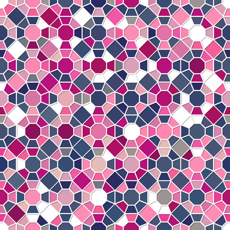 Colorful seamless mosaic pattern. Can be used in textiles, for book design, website background Vector