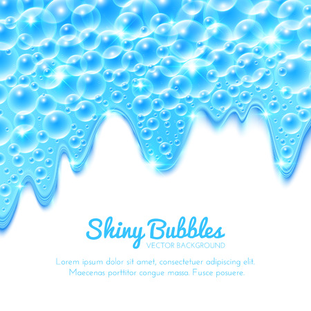 Shining Water Background with Bubbles. Vector illustration Vector