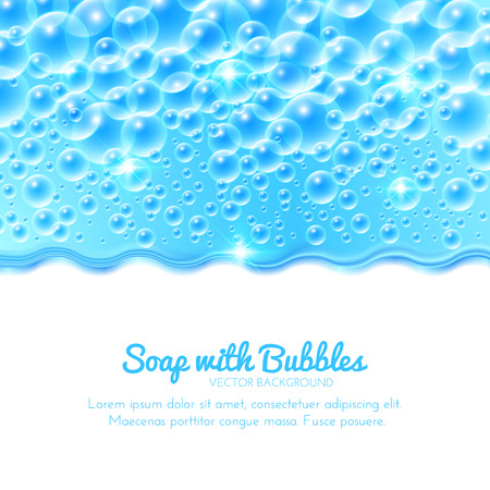 Shining Water Background with Bubbles. Vector illustration  イラスト・ベクター素材