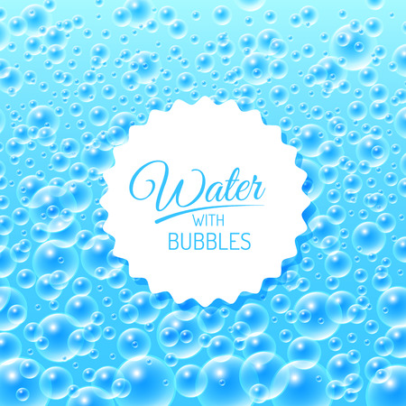 water bubbles: Colourful Blue Water Bubbles Background. Vector illustration