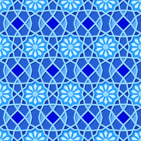 muslim pattern: Traditional Ornamental Seamless Islamic Pattern. Vector Illustration