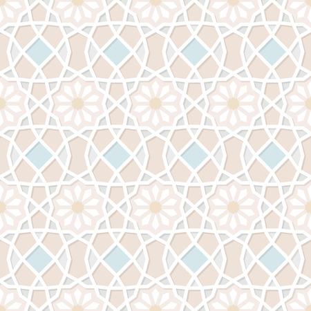 Tradizionale motivo ornamentale senza soluzione di continuità islamica. Illustrazione vettoriale Archivio Fotografico - 30167768
