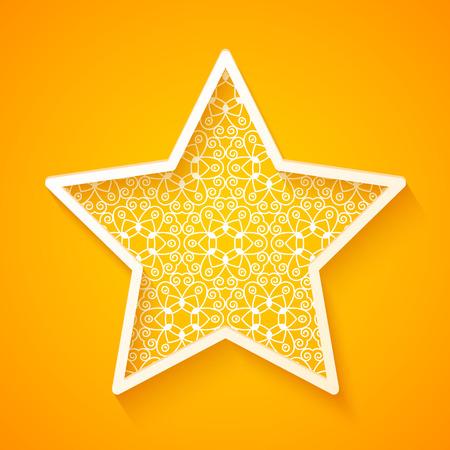 openwork: Openwork Star on Colorful Background. Vector Illustration Illustration