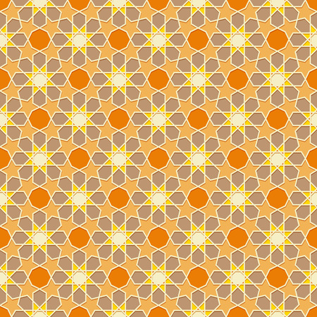oriental background: Traditional Ornamental Seamless Islamic Pattern. Vector Illustration
