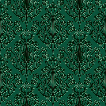 wallpaper abstract: Damask Wallpaper. Abstract Dark Vector Seamless Pattern