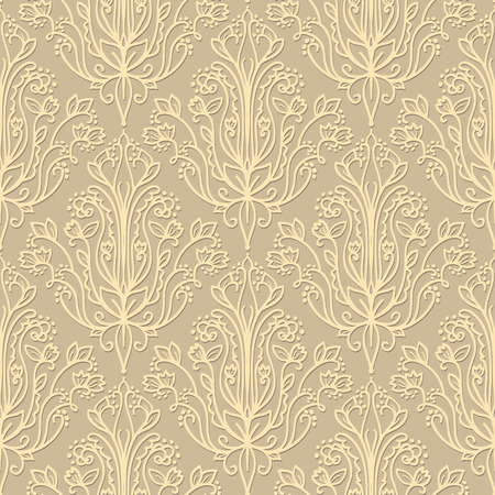 wallpaper abstract: Damask Wallpaper. Abstract Colored Seamless Pattern