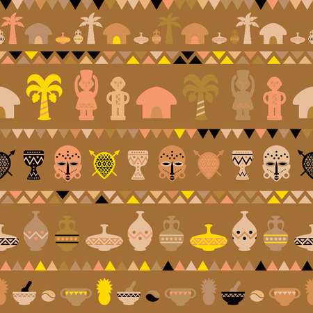 djembe: African Tribal Pattern Ethnic ornament. Vector seamless background