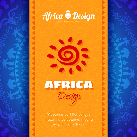 african tribe: African Tribal Ethnic Art Background. Vector design