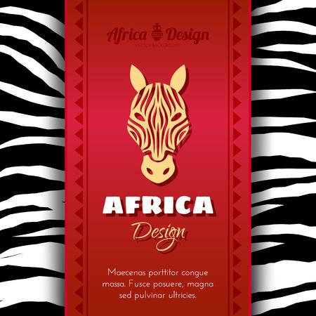 cult tradition: African Tribal Ethnic Art Background. Zebra skin. Vector design