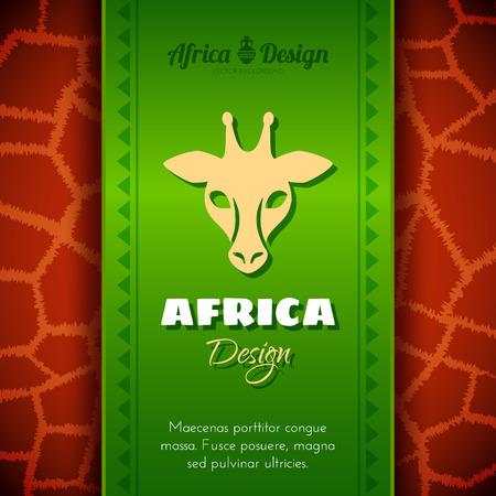 cult tradition: African Tribal Ethnic Art Background. Giraffe skin. Vector design