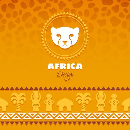 cult tradition: African Tribal Ethnic Art Background. Leopard skin. Vector design