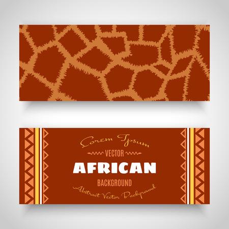 giraffe skin: African Tribal Art Banners. Giraffe skin Vector Design Illustration