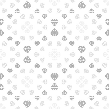 Light seamless pattern with diamonds. Repeating luxury background. Vector design Vector