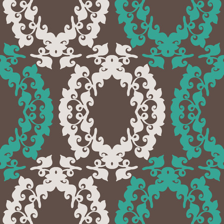 Abstract vintage seamless floral pattern. Repeating vector background for fabric, prints, cards