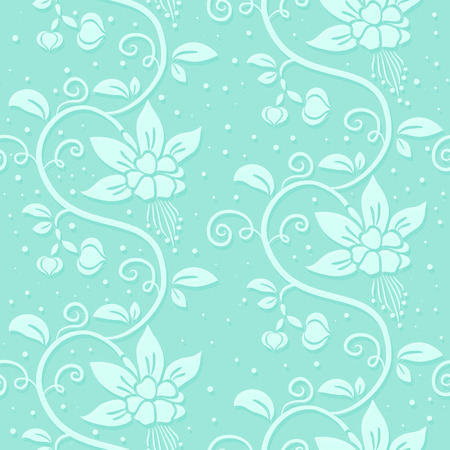 Abstract seamless floral pattern. Vector repeating background with flowers and buds