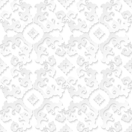 Abstract floral white seamless background for graphic or website layout. Vector wallpaper design