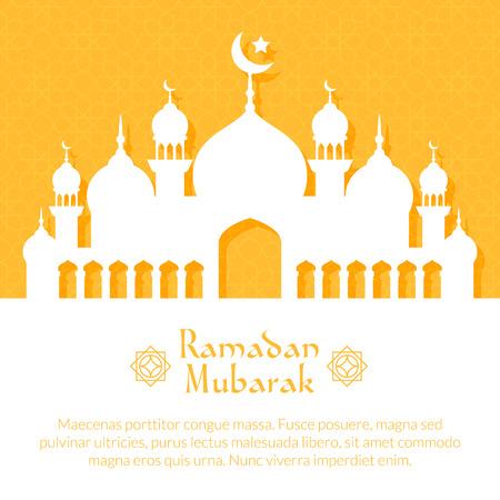 与清真寺的贺卡为穆斯林社区赖买丹月Kareem庆祝的圣地