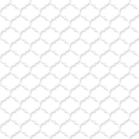 Abstract geometric white seamless background for graphic or website layout. Vector wallpaper design