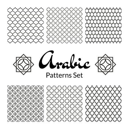 Arabic seamless patterns set Vectores