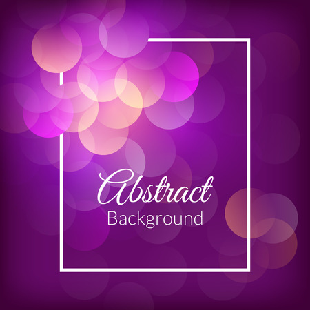 elegant backgrounds: Romantic bokeh background. Vector dark purple card Illustration