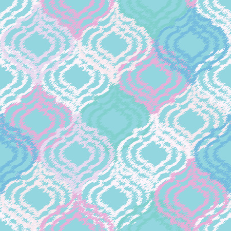 tribal: Ogee fabric seamless background. Vector tribal pattern